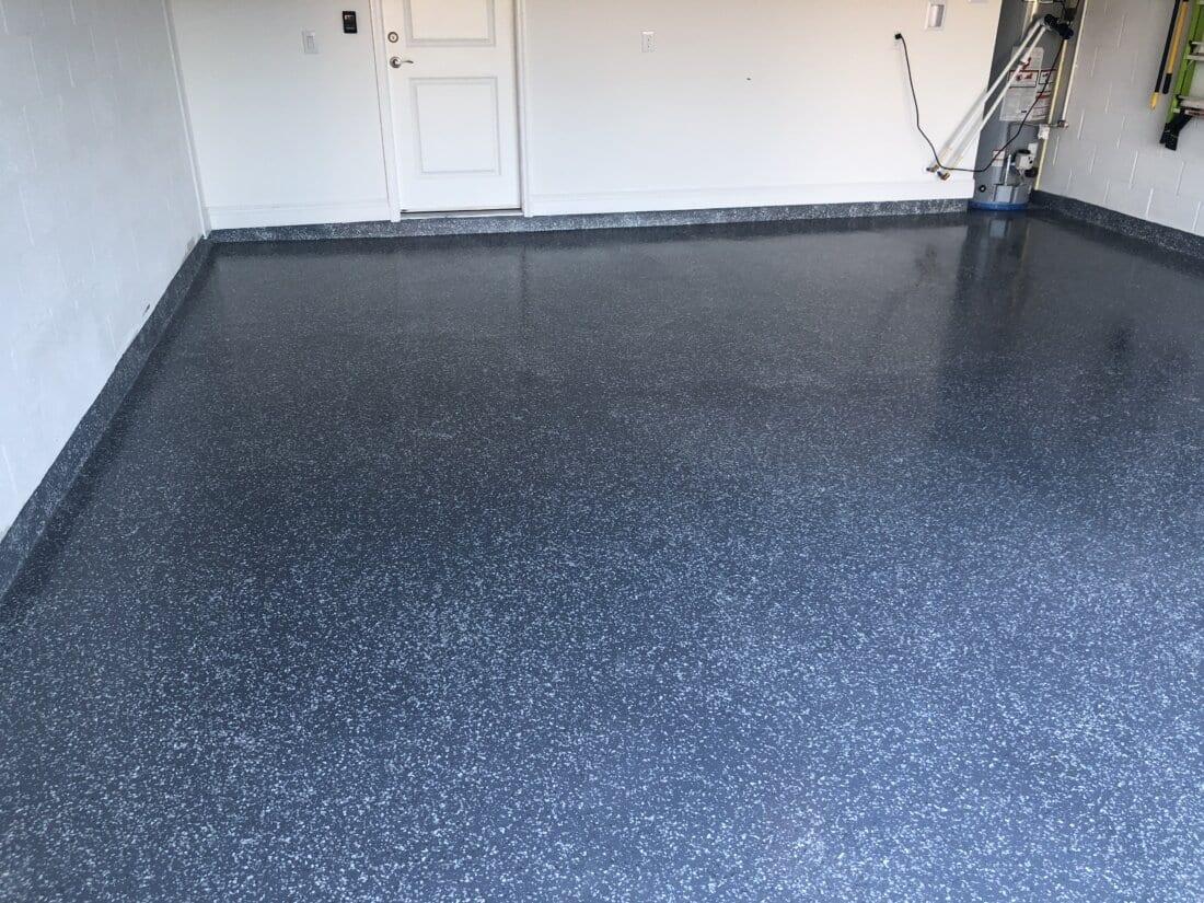 All Weather Floors Grey Polyurea with Torginal Flake
