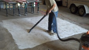 remove dirt and debrs from floor