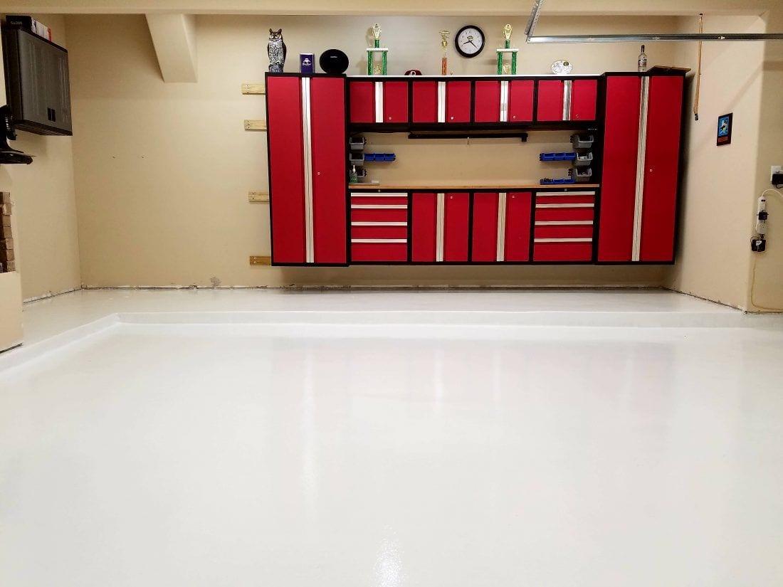 White Polyurea Garage Coating