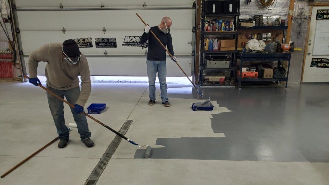 Customer Applying First Coat of TruAlloy