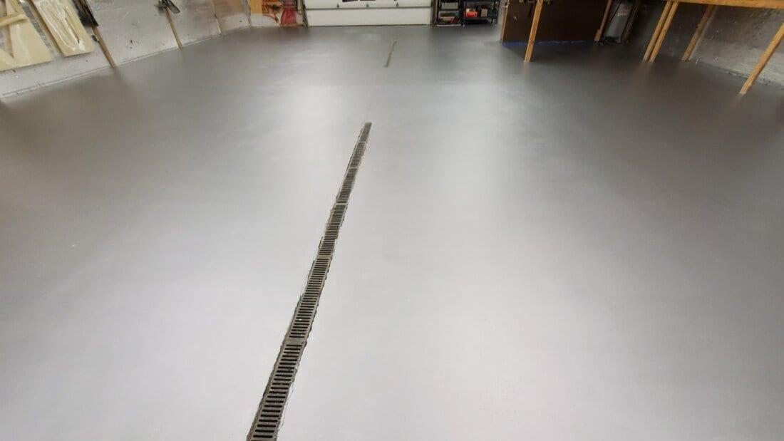 Floor Coated with Second Coat
