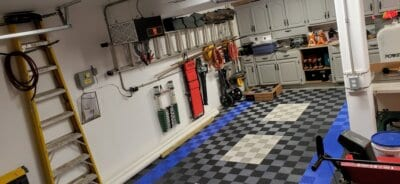 Blue, Gray, and Black FreeFlow tiles