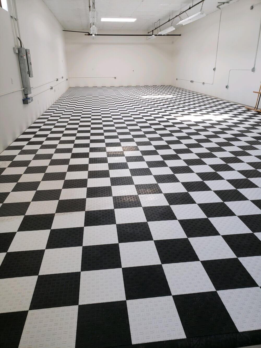 Checkerboard Garage Floor