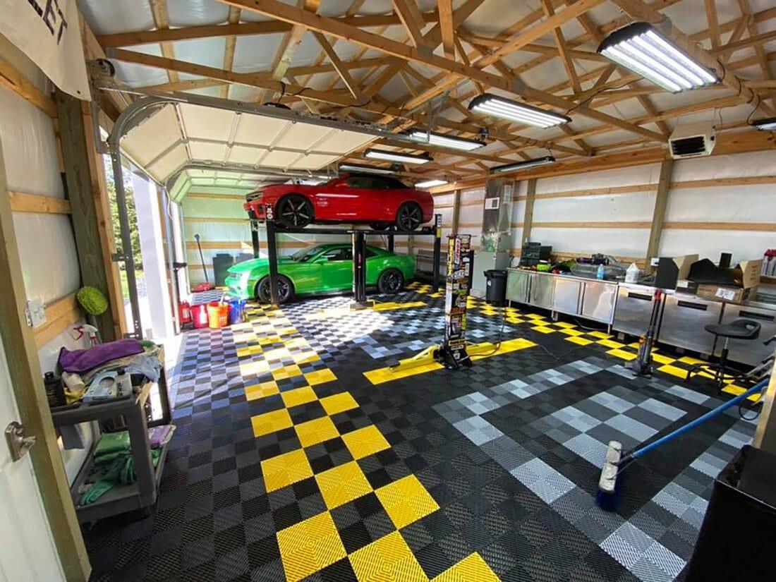 Ribbed Garage Floors