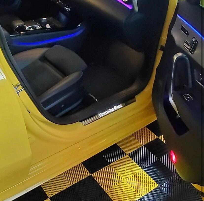 Open Car Door with Ribbed Tiles