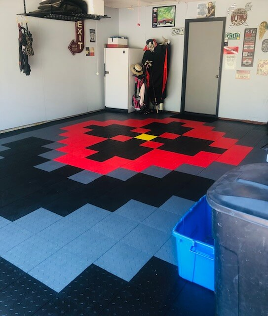 Silver, Black, Red Truelock Diamond Tiles