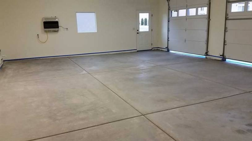 Clean Dry Floor Ready to Be Coated