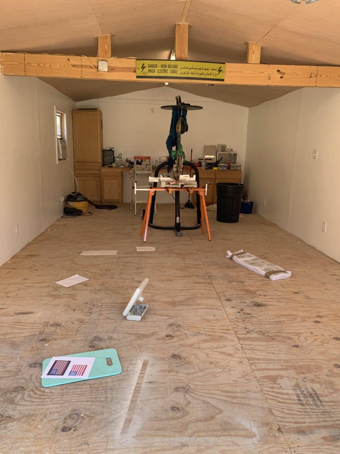 Before Garage Floor Tiles