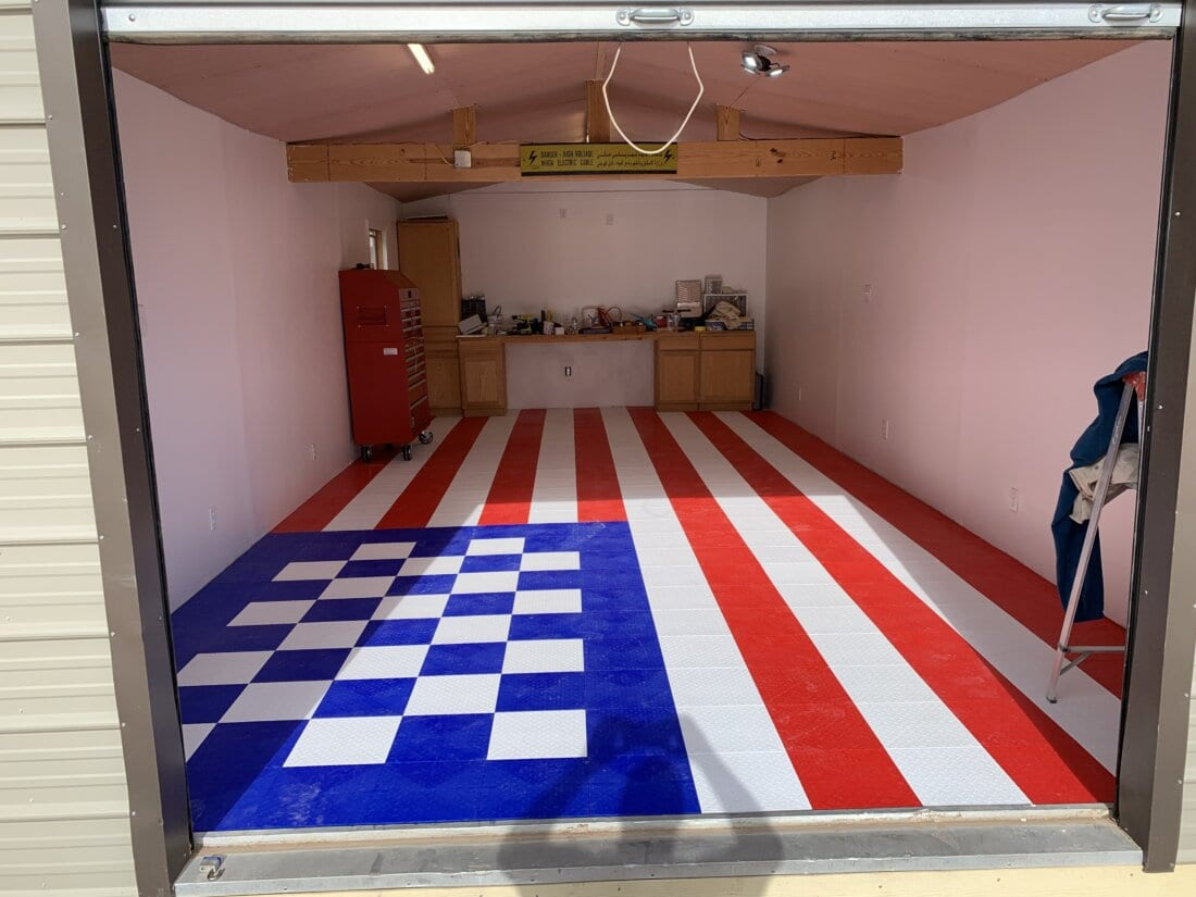American Flag with Tiles