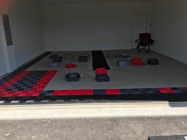 William's garage mid-installation