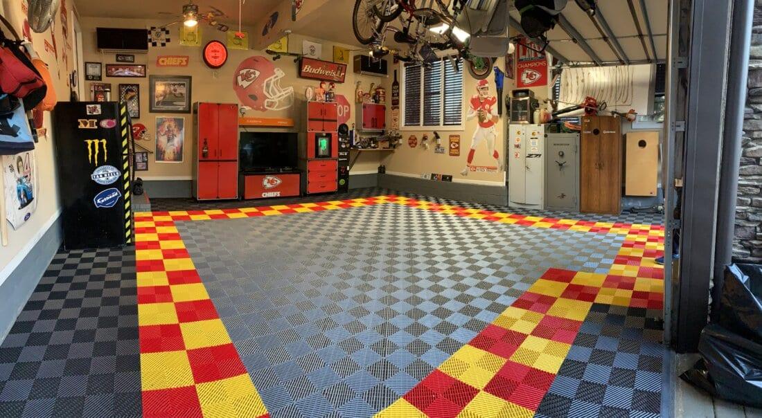 TrueLock HD Ribbed Garage Floor tiles