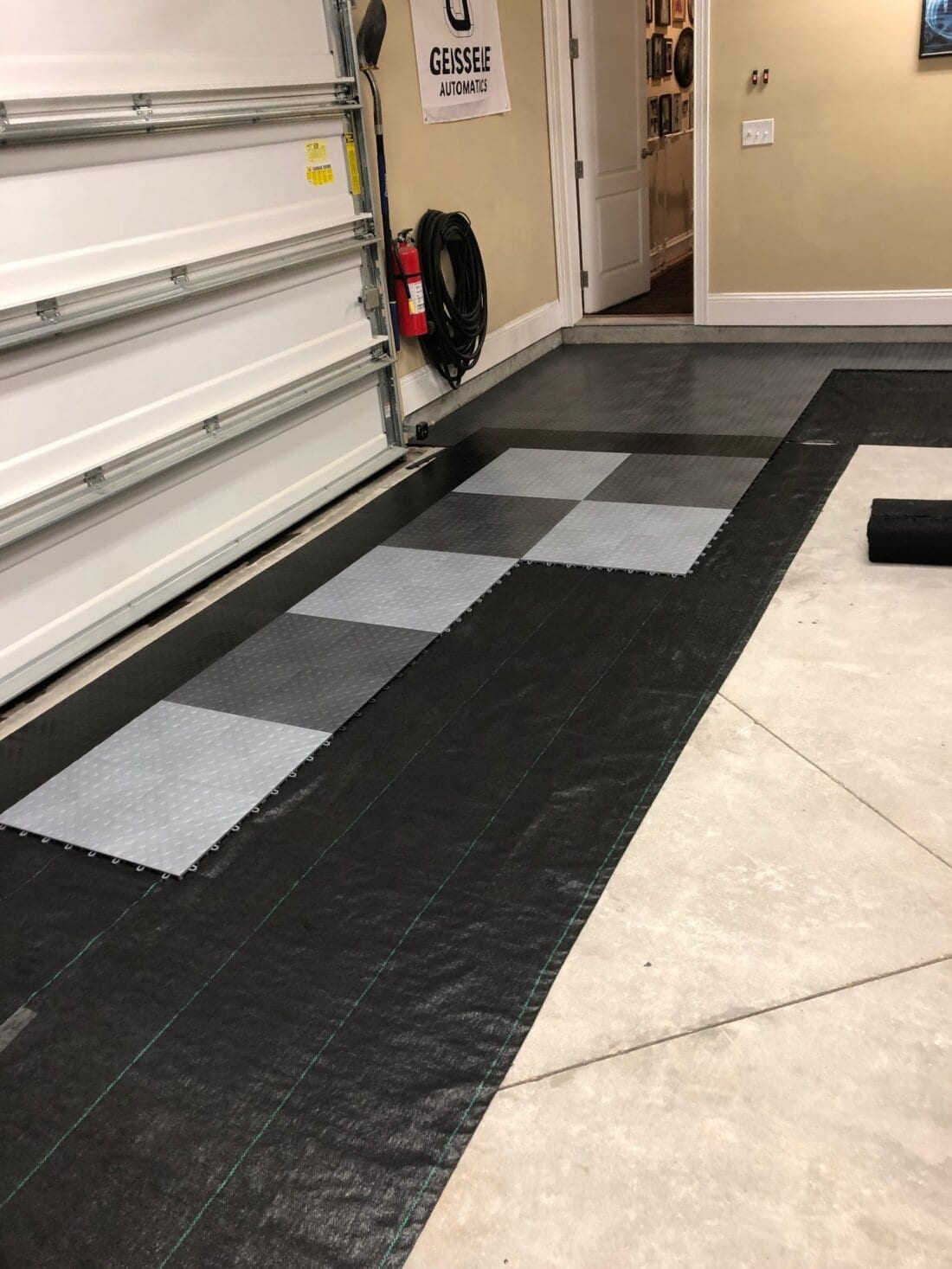Installation Proccess of CircleTrac Garage Floor Tiles