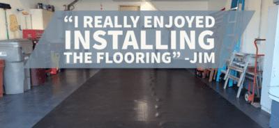 Tile Garage Floor with Mat on top