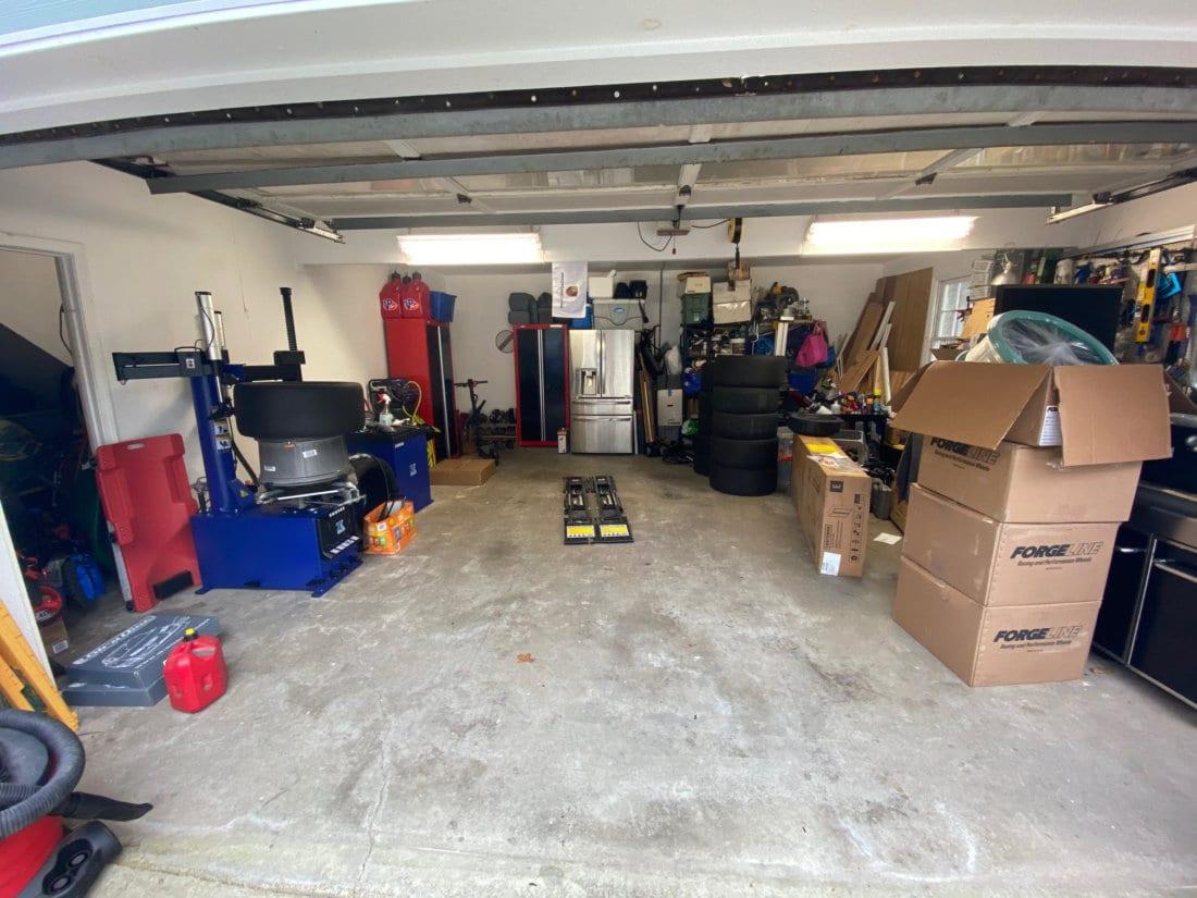 Lynn's Garage before TrueLock HDXT Small Coin Tiles