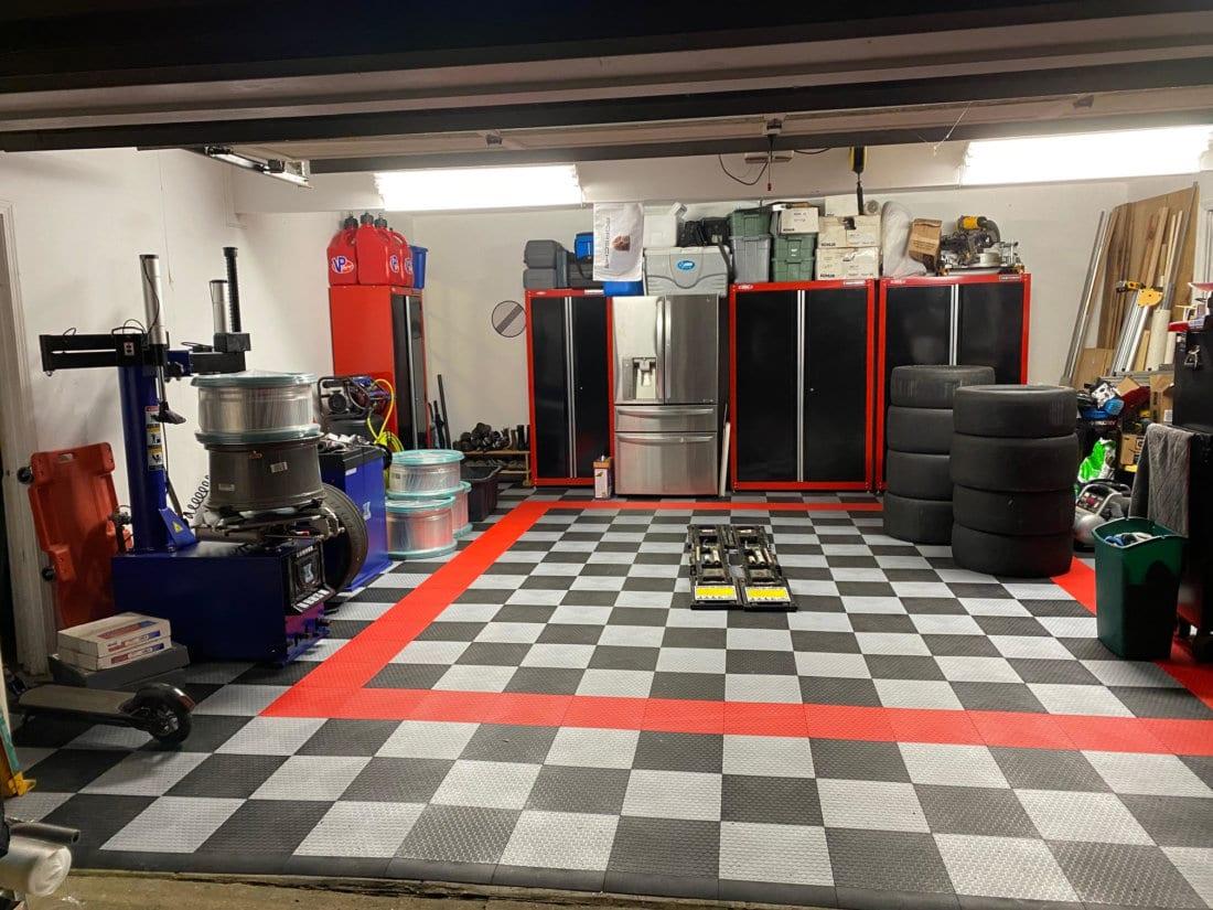 Lynn's Garage after TrueLock HDXT Small Coin Tiles