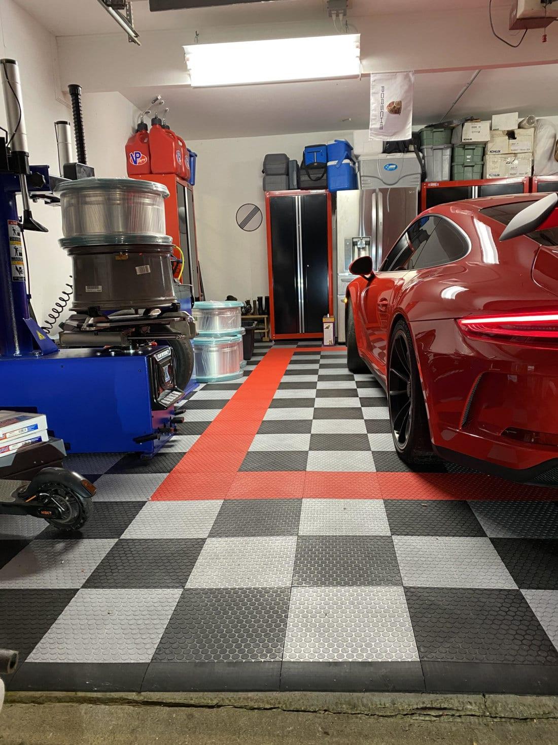 TrueLock HDXT Small Coin Garage With Red Ferrari