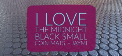 Black Small Coin Garage Floor Mat