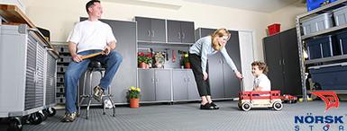 Norsk™ PVC Garage floor tiles