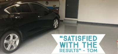Tom's Epoxy Garage with Black Car