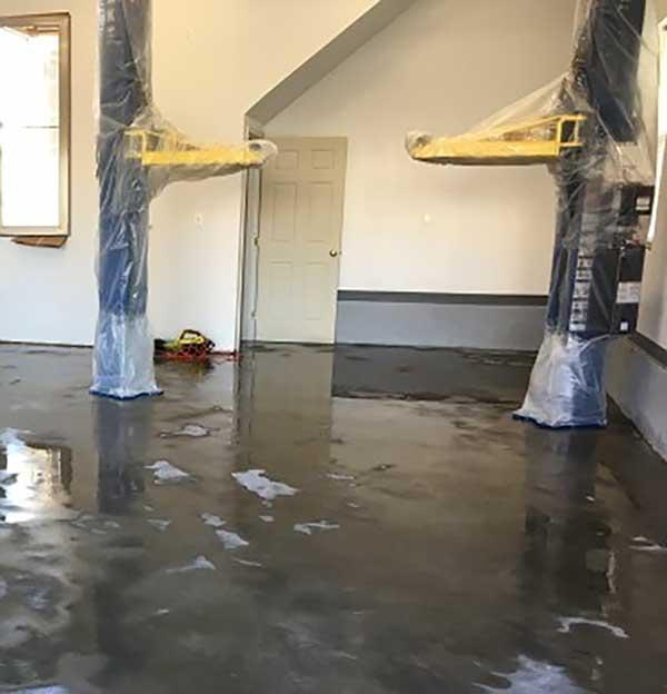 Washing Garage Floor