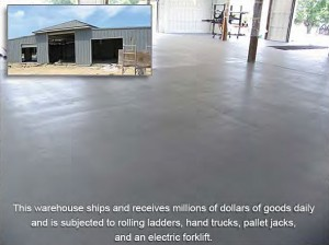 Warehouse Floor Coated with Rust Bullet