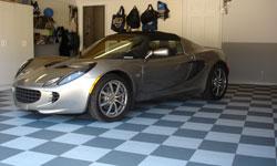 Flat garage floor tile