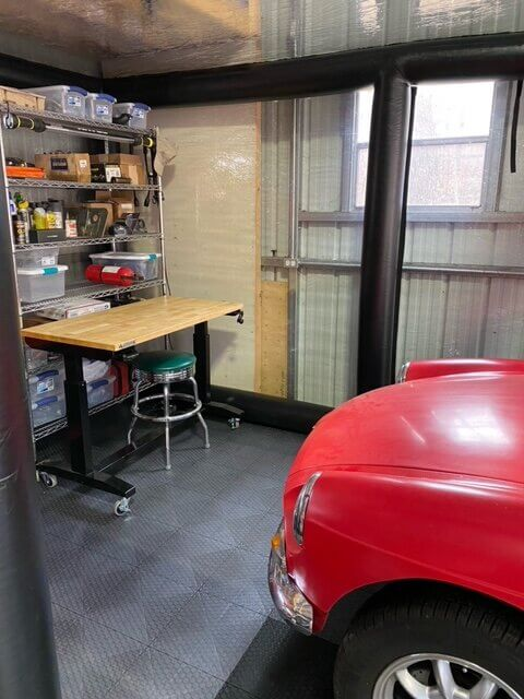 Red car and TrueLock HDXT small coin tiles