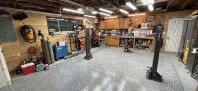 Polyurea Coated Garage