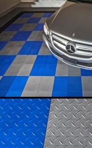 How to cut garage floor tile
