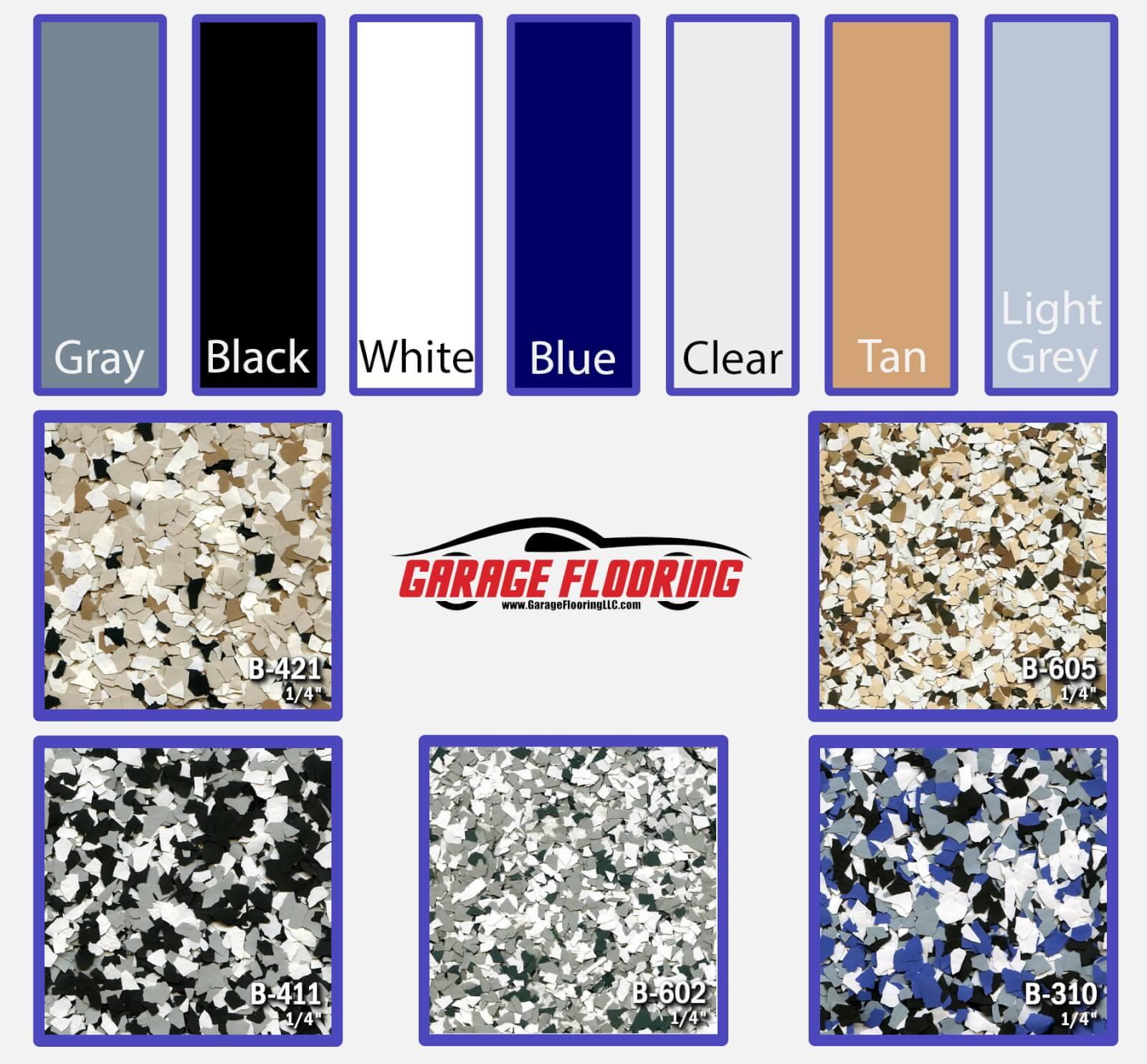 Polyurea Color Chart