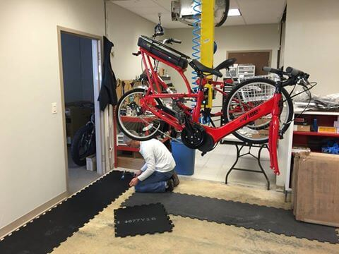 Rubber Bike Shop Flooring
