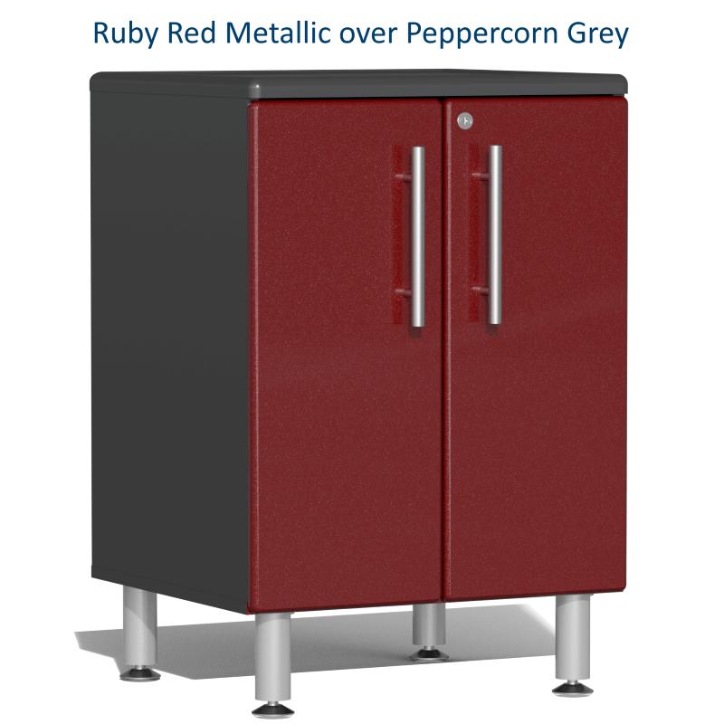 Ruby Red Metallic over Peppercorn Grey