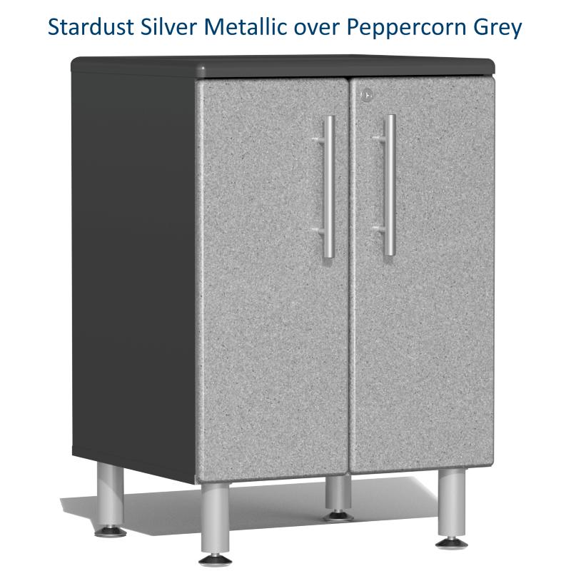Stardust Silver Metallic over Peppercorn Grey