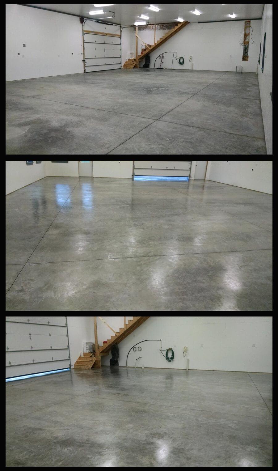 Beofre and after Garage Floor Sealer